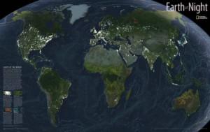 La Tierra en la Noche
