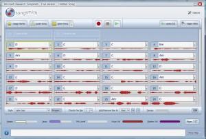 Una prueba cantándole al programita, donde él detecta el tono y arregla el acompañamiento de forma armónica.